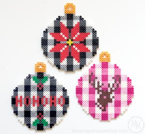 Creative Perler Bead Christmas Ornaments