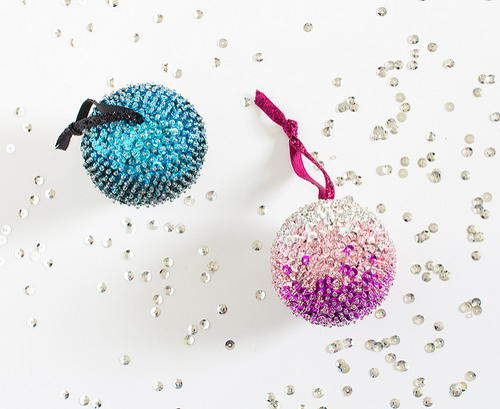 Ombre Sequin Beaded Ornaments