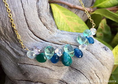 Ocean Waves Briolette Necklace