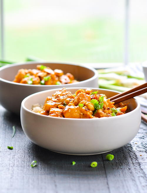 Dump-and-Bake General Tso Chicken