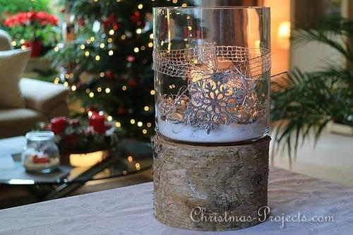 Elegant Winter Candle Centerpiece