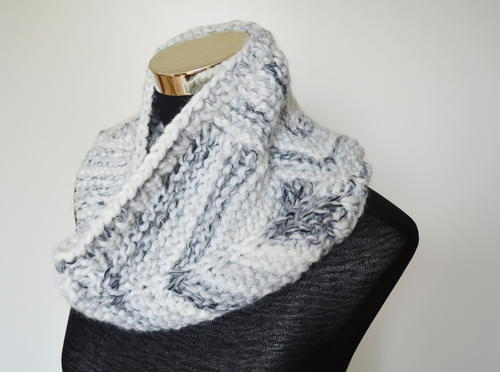 Bulky Squares Knit Cowl
