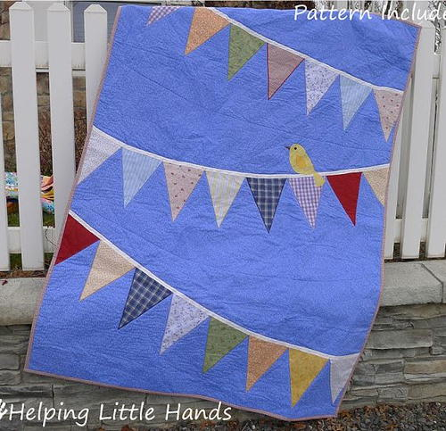 Bird and Bunting Quilt Tutorial