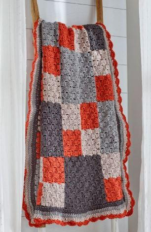 Four-Patch Crochet Throw