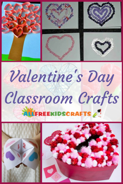 30 Valentines Day Classroom Crafts