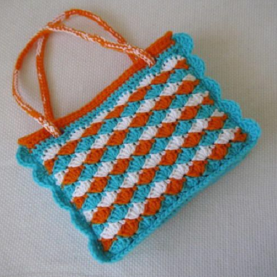 Shells and Shells Crochet Mini Tote