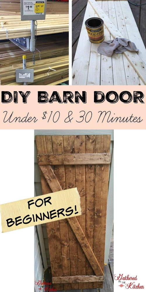 DIY Barn Door Under $10 in 30 Minutes