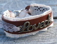 Lovely Leather and Lace Bracelet