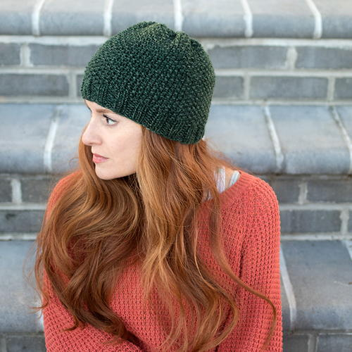 Evergreen Seed Stitch Beanie