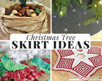 14 Homemade Christmas Tree Skirt Ideas