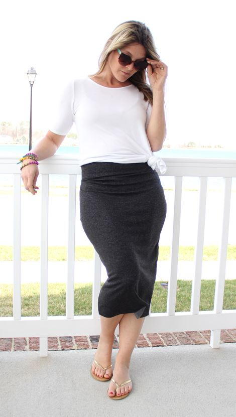 Knit Midi DIY Pencil Skirt