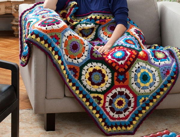 Image shows the I Love Color Crochet Afghan.