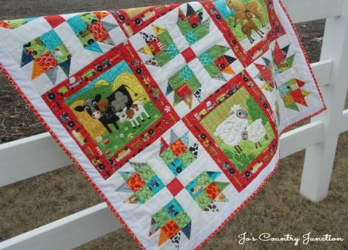 Into the Meadows Baby Quilt