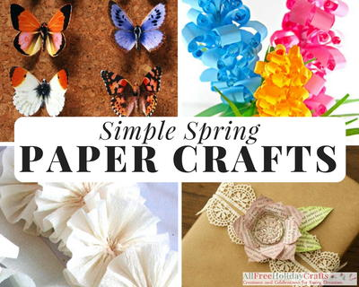 32 Simple Spring Paper Crafts Allfreeholidaycrafts Com