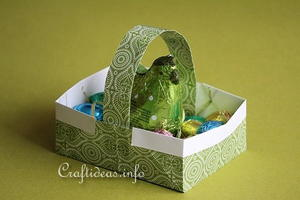 Easy Origami Easter Basket