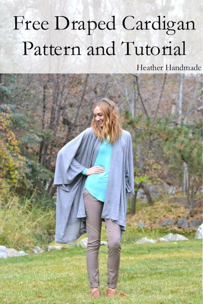 Free Draped Cardigan Sewing Pattern