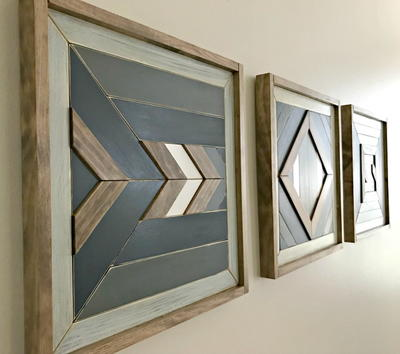 DIY Scrap Wood Wall Art Tutorial