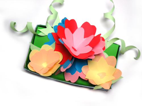 Cut Out Paper Flower Bouquet Gift