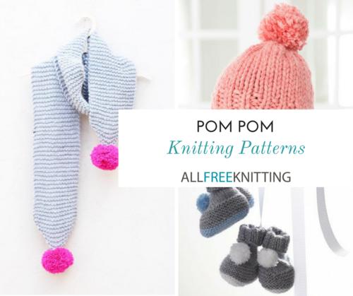 01e38af37 28 Pom Pom Knitting Patterns | AllFreeKnitting.com
