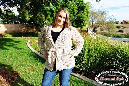 Chunky Belted Crochet Cardiagn