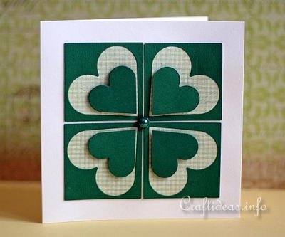 Four Leaf Clover St. Patrick's Day Card
