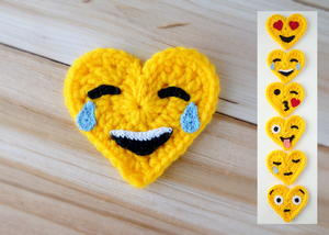 Crochet Emoji Valentines – Tears of Joy