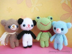 Brownie Bear and his Friends Amigurumi