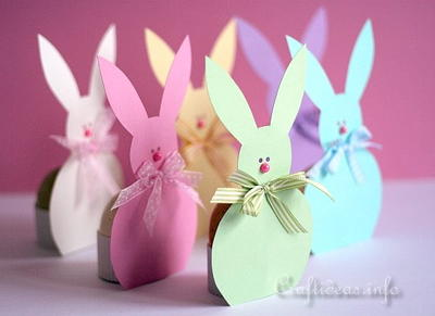 Paper Easter Bunny Egg Holders