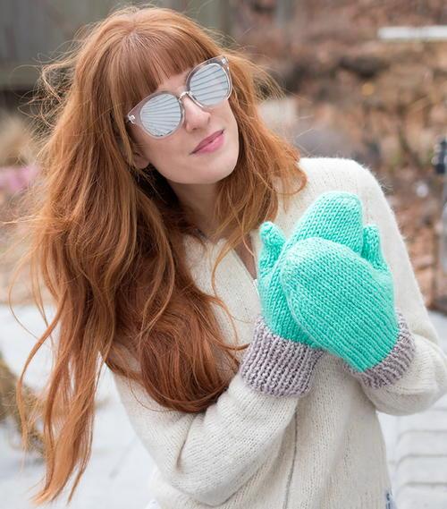 Flat Knit Women's Mittens | AllFreeKnitting.com