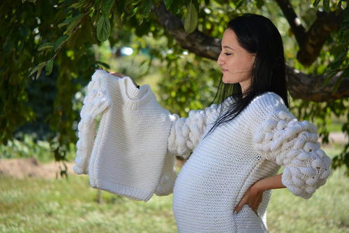 Oversized Garter Stitch Sweater