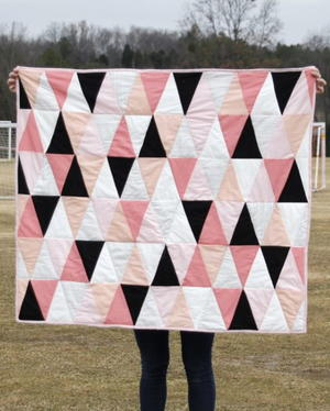 Modern Ombre Diamonds Baby Quilt