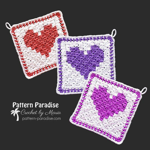 C2C Heart Washcloth