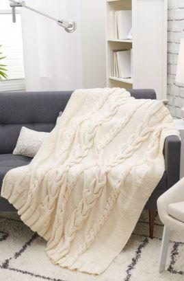 Wrapped in Luxury Cabled Knit Throw