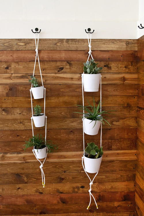 Easy Three-Tier Rope Planter