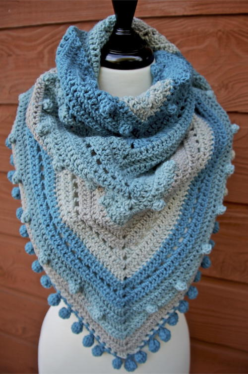Misty Morning Triangle Shawl