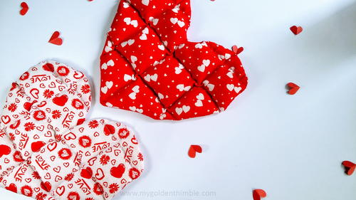 Valentine's Heart Heating Pads