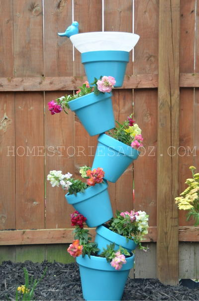 Whimsical Garden Planter and Bird Bath