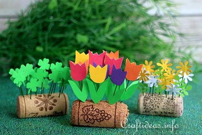 Upcycled Wine Cork Tiny Flower Bed