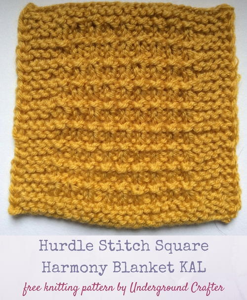 Hurdle Stitch Square