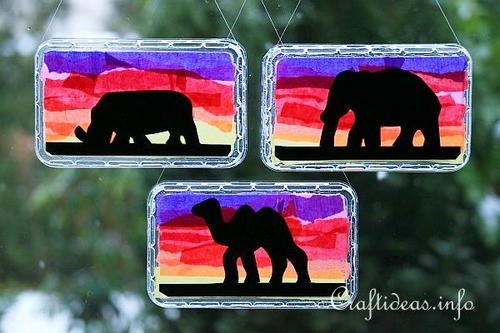 Colorful African Animal Suncatchers