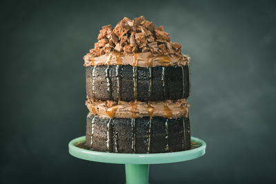 Tim Tam Cake with Mexican Chocolate Frosting