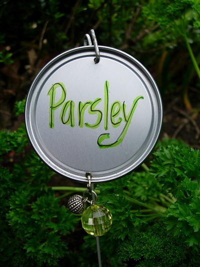 Garden Markers with Bling