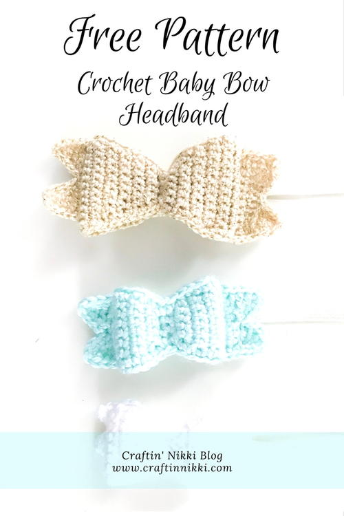 Crochet Baby Bow Headband