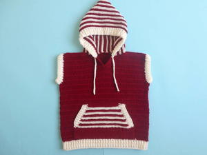 Hooded Vest Sweater for Toddler Boy