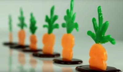 Hot Glue Easter Carrot Decorations
