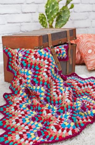 Crochet Throw-back Granny Chevron