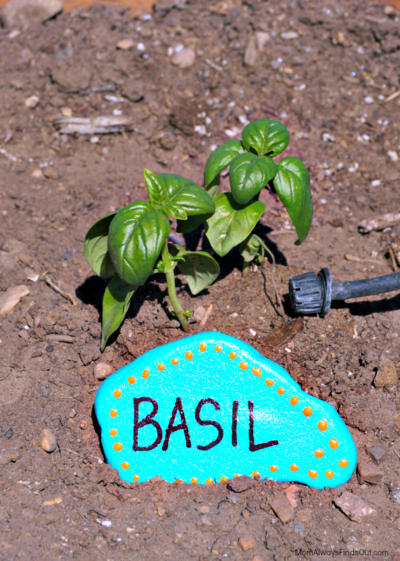 Whimsical Painted Garden Markers