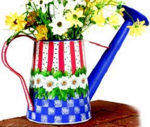 Patriotic Wind Chime and Watering Can