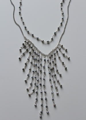 Cascading Anthropologie Knockoff Beaded Necklace