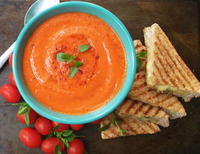 Spiced Tomato Soup with Grilled Sandwiches